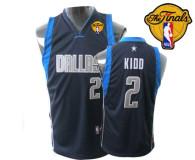 Dallas Mavericks 2011 Finals Patch #2 Jason Kidd Dark Blue Stitched Youth NBA Jersey