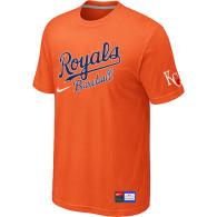 MLB Kansas City Royals Orange Nike  Short Sleeve Practice T-Shirt