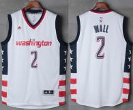 Washington Wizards -2 John Wall New White Home Stitched NBA Jersey