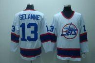 Winnipeg Jets -13 Teemu Selanne Stitched White CCM Throwback NHL Jersey