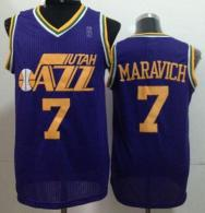 Utah Jazz -7 Pete Maravich Purple Throwback Stitched NBA Jersey