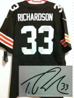 Nike Cleveland Browns -33 Trent Richardson Brown Team Color Men's Stitched NFL Elite Autographed Jer