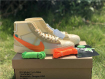 """Authentic OFF-WHITE x Nike Blazer Mid """"All Hallow's Eve"""" GS"""