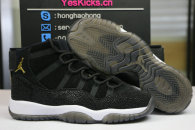 "Authentic Air Jordan 11 PRM ""Heiress"" Black"