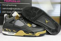 Authentic Air Jordan 4 Black Gold