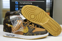 Authentic LV X OFF White X Air Jordan 1 with suitcase