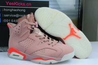 "Authentic Air Jordan 6 "" Millennial Pink """