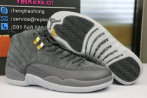 Authentic Air Jordan 12 Grey Suede