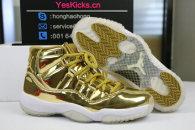 Authentic Air Jordan 11  GOLD White