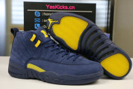 "Authentic Air Jordan 12 ""Michigan"""