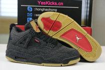 """Authentic levi's x Air Jordan 4 """"Black Denim"""""""