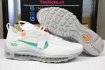 Authentic OFF White x Nike Air Max 97 White Green