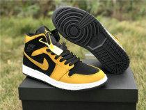 Authentic Air Jordan 1 Black Yellow