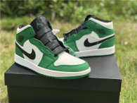 "Authentic Air Jordan 1 GS Mid SE ""Pine Green"""