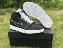 Authentic Air Jordan 1 Mid Black/White