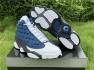 Authentic Air Jordan 13 grey blue