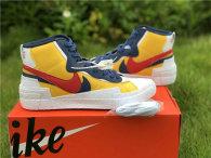 Authentic Sacai x Nike Blazer Mid Varsity Maize/Midnight Navy