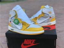 Authentic OFF White X Air Jordan 1 GS Yellow White