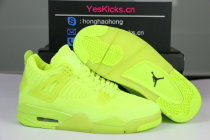"Authentic Air Jordan 4 Flyknit ""Volt"""