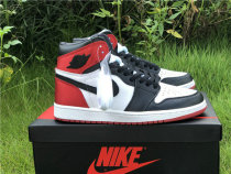 "Authentic Air Jordan 1 GS ""Satin Black Toe"""