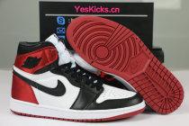 "Authentic Air Jordan 1 ""Satin Black Toe"""