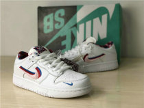 Authentic Parra x Nike SB Dunk Low White/Pink Rose GS