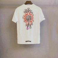 Chrome Hearts short round collar T-shirt M-XXL (39)