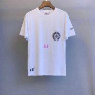 Chrome Hearts short round collar T-shirt M-XXL (44)