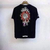 Chrome Hearts short round collar T-shirt M-XXL (37)