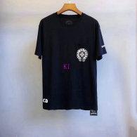 Chrome Hearts short round collar T-shirt M-XXL (45)
