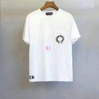 Chrome Hearts short round collar T-shirt M-XXL (47)