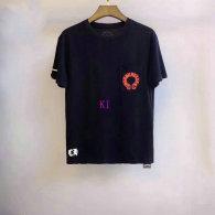 Chrome Hearts short round collar T-shirt M-XXL (36)