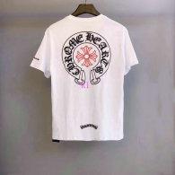 Chrome Hearts short round collar T-shirt M-XXL (41)