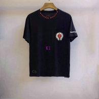 Chrome Hearts short round collar T-shirt M-XXL (42)