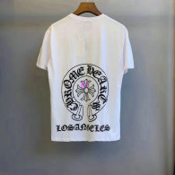 Chrome Hearts short round collar T-shirt M-XXL (52)