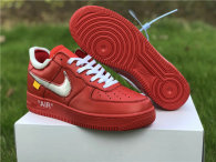 Authentic Off-White x Nike Air Force 1 Low Red-Silver