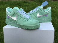 Authentic Off-White x Nike Air Force 1 Low Green-Silver GS