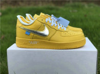 Authentic Off-White x Nike Air Force 1 Low Yellow/Silver GS