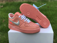Authentic Off-White x Nike Air Force 1 Low Washed Coral/Silver GS
