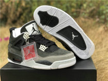 Authentic Air Jordan 4 Retro Black/Cool Grey