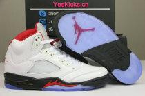 "Authentic Air Jordan 5 ""Fire Red"""