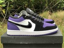 Authentic Ai Jordan 1 Low Black Purple