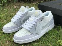 Authentic Ai Jordan 1 Low White/Sky Grey-Football Grey