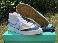 Authentic Nike SB Zoom Blazer Mid Edge White/Midnight Navy
