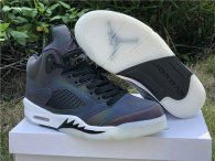 "Authentic Air Jordan 5 WMNS ""Oil Grey"""