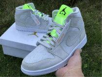 Authentic Air Jordan 1 Mid Vast Grey/Green