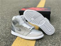 Authentic Air Jordan 1 High Neutral Grey/Metallic Silver-White