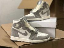 Authentic Air Jordan 1 High Grey/White
