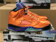 Authentic Air Jordan 5 Orange/Purple