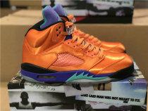 Authentic Air Jordan 5 Orange/Purple